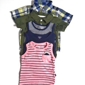 5pc Carters Variety Lot of Boys Shirts Size 12m